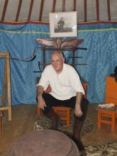 Horvéth Tibor a jurtában